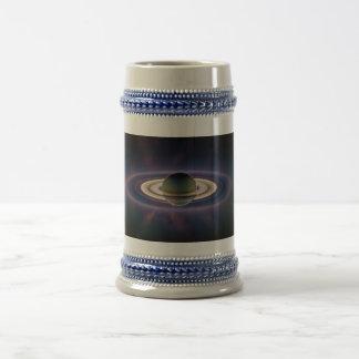 Solar Eclipse Of Saturn from Cassini Spacecraft Coffee Mug
