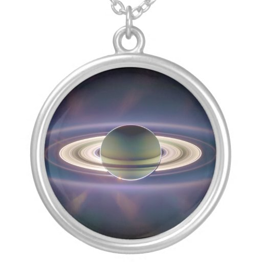 Solar Eclipse Of Saturn from Cassini Spacecraft Jewelry