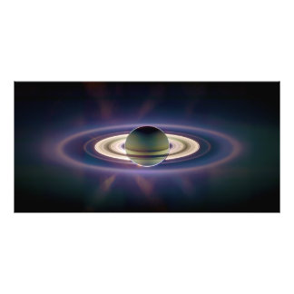 Solar Eclipse Of Saturn from Cassini Spacecraft Photo Print
