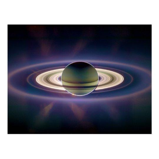 Solar Eclipse Of Saturn from Cassini Spacecraft Postcard