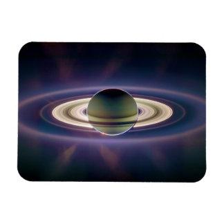Solar Eclipse Of Saturn from Cassini Spacecraft Rectangular Photo Magnet