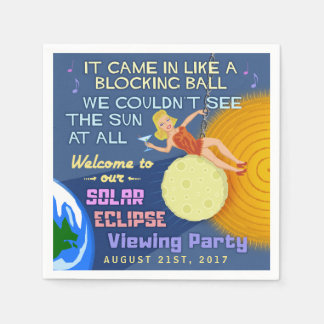 Solar Eclipse Party Funny Retro Sun Viewing 2017 Napkin
