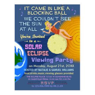 Solar Eclipse Party Funny Retro Sun Viewing 2017 Postcard
