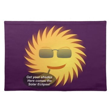 Beach Themed Solar Eclipse Placemat
