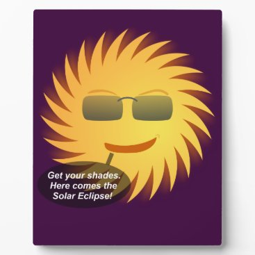 Beach Themed Solar Eclipse Plaque