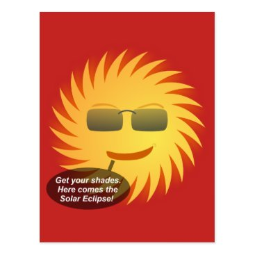 Beach Themed Solar Eclipse Postcard