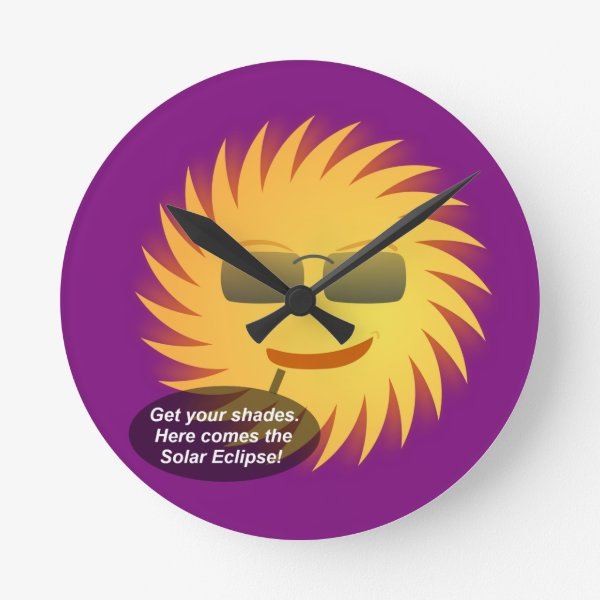 Solar Eclipse Round Clock