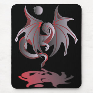 Solar Eclipse (Ruby Red Dragon) Mouse Pad