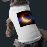 """Solar Eclipse Shirt<br><div class=""""desc"""">A solar eclipse (the moon covering the sun),  with the typical &quot;lens-flare&quot; effect in blue.</div>"""