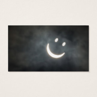 Solar Eclipse Smiley Face Business Card