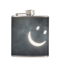 Solar Eclipse Smiley Face Flask