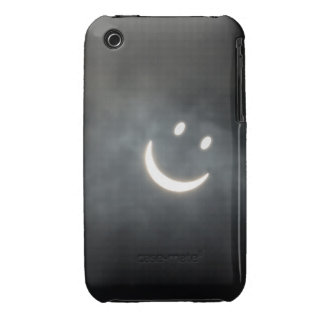 Solar Eclipse Smiley Face iPhone 3 Cover