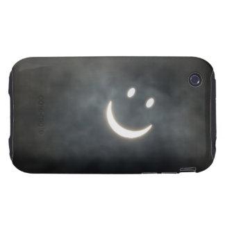 Solar Eclipse Smiley Face Tough iPhone 3 Cover
