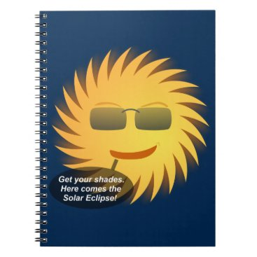 Beach Themed Solar Eclipse Spiral Notebook