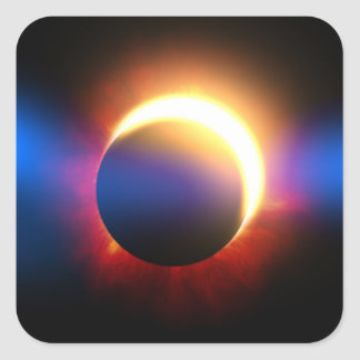 Solar Eclipse Square Sticker