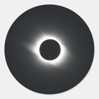 Solar Eclipse Classic Round Sticker
