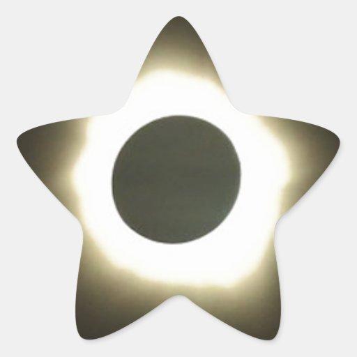 solar eclipse star stickers