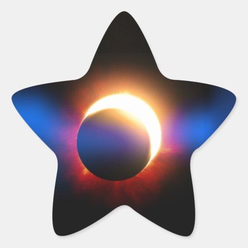 Solar Eclipse Star Sticker