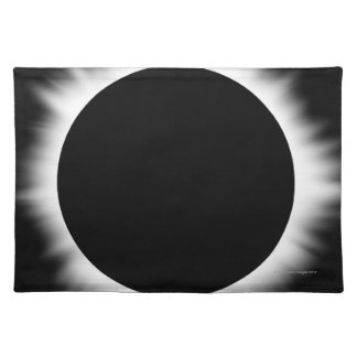 Solar Eclipse with Corona Cloth Placemat
