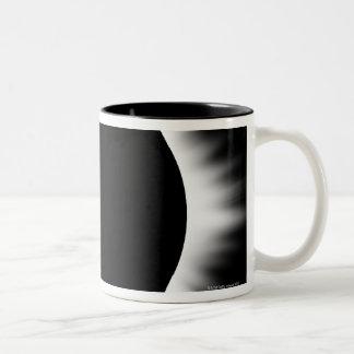 Solar Eclipse with Corona Two-Tone Coffee Mug