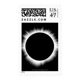 Solar Eclipse with Corona Postage