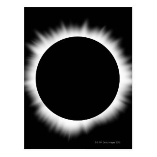 Solar Eclipse with Corona Postcard
