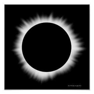 Solar Eclipse with Corona Poster