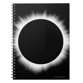 Solar Eclipse with Corona Spiral Notebook