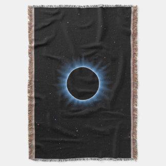 Solar Eclipse Woven Throw Blanket