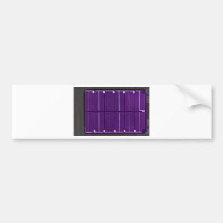 solar electric panel bumper sticker