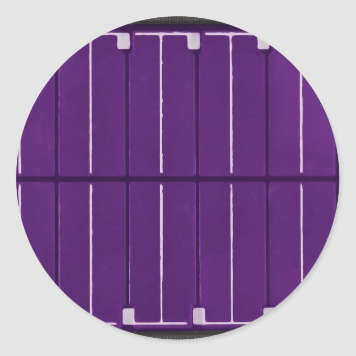solar electric panel classic round sticker