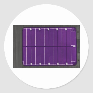 solar electric panel classic round sticker