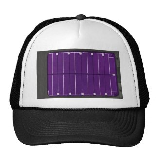 solar electric panel mesh hat