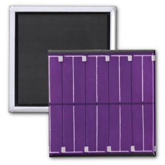 solar electric panel refrigerator magnet