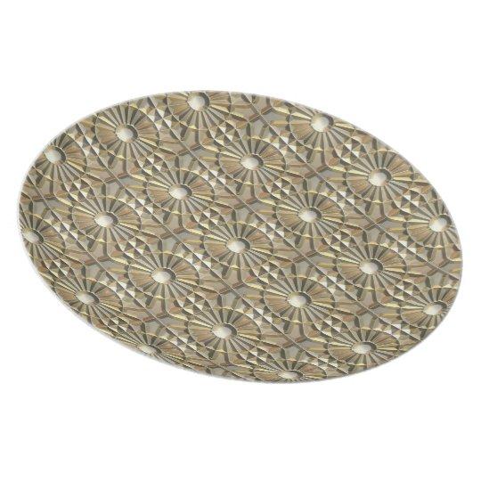 Solar Embossed Metals Melamine Plate