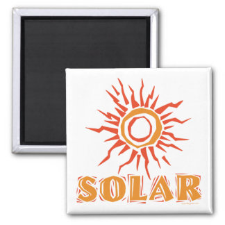 Solar Energy 2 Inch Square Magnet