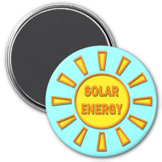 Solar Energy 3 Inch Round Magnet