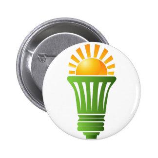 Solar Energy Efficient Lightbulb 2 Inch Round Button