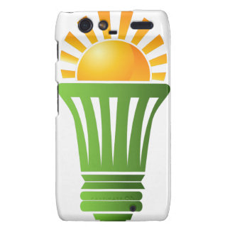 Solar Energy Efficient Lightbulb Droid RAZR Covers