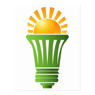Solar Energy Efficient Lightbulb Postcard