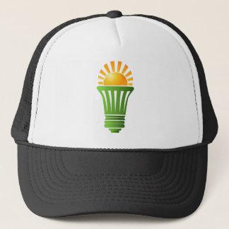 Solar Energy Efficient Lightbulb Trucker Hat