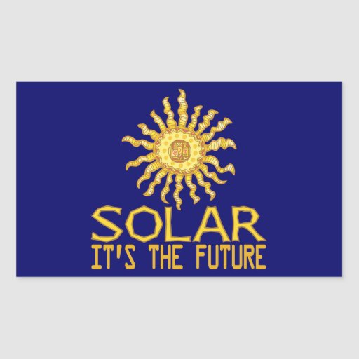 Solar Energy Future Rectangular Sticker