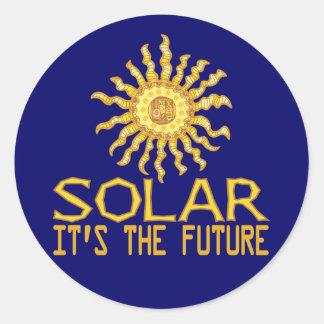 Solar Energy Future Round Stickers