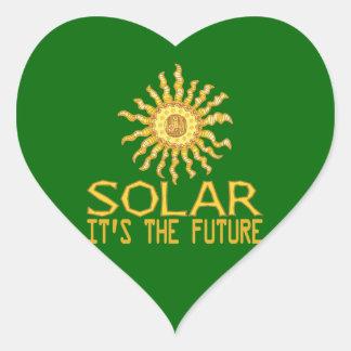 Solar Energy Heart Sticker
