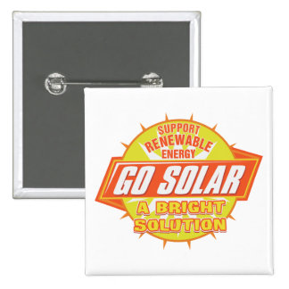 Solar Energy Solution 2 Inch Square Button