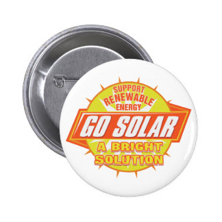 Solar Energy Solution Pinback Button