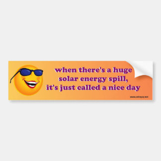 solar energy spill bumper sticker