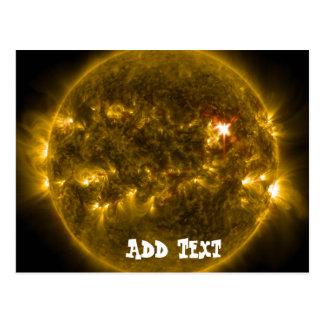 Solar Energy Sun Flare Eruption Fireball Postcard