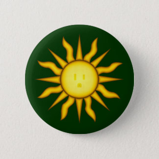Solar Energy Sun Glyph Button