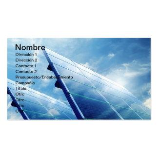 SOLAR ENERGY TARJETAS DE VISITA